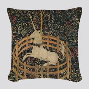 Unicorn Captured Woven Throw Pillow